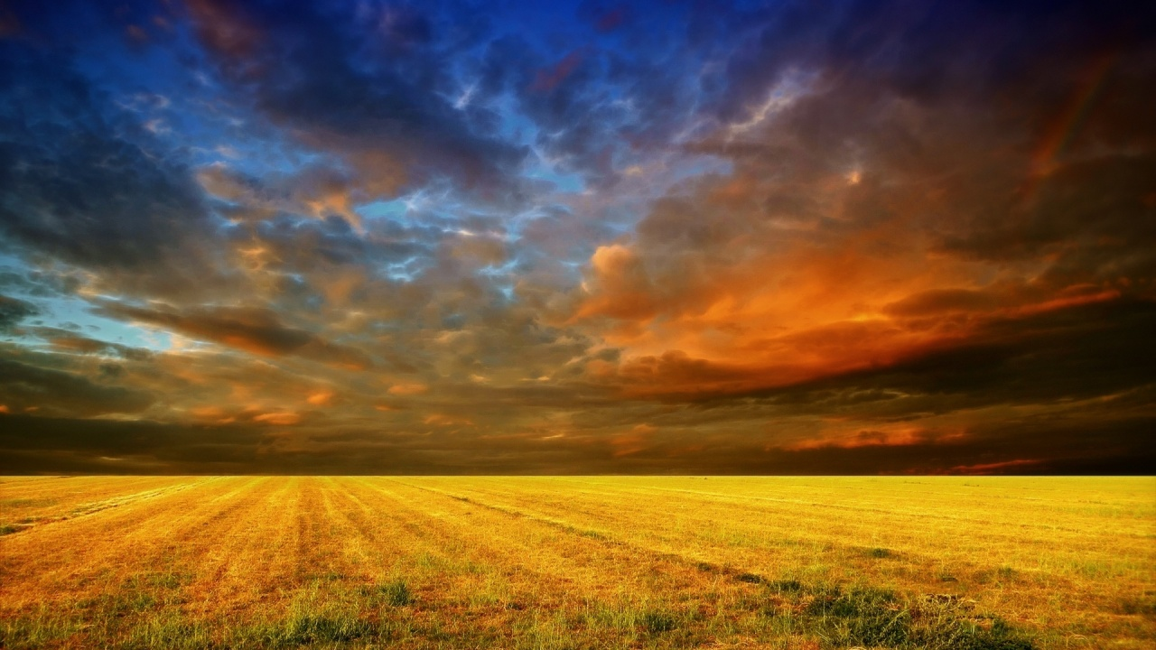 1280x720 Colorful Sky & Field