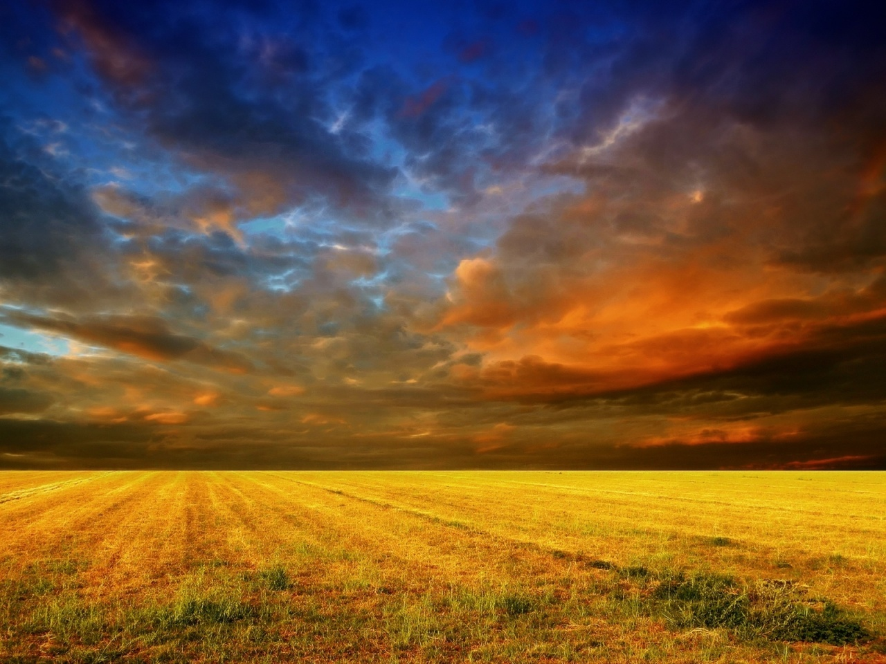1280x960 Colorful Sky & Field