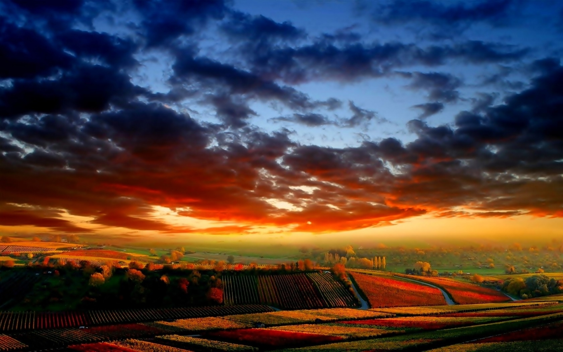 colorful sky fields amp autumn wallpapers colorful sky