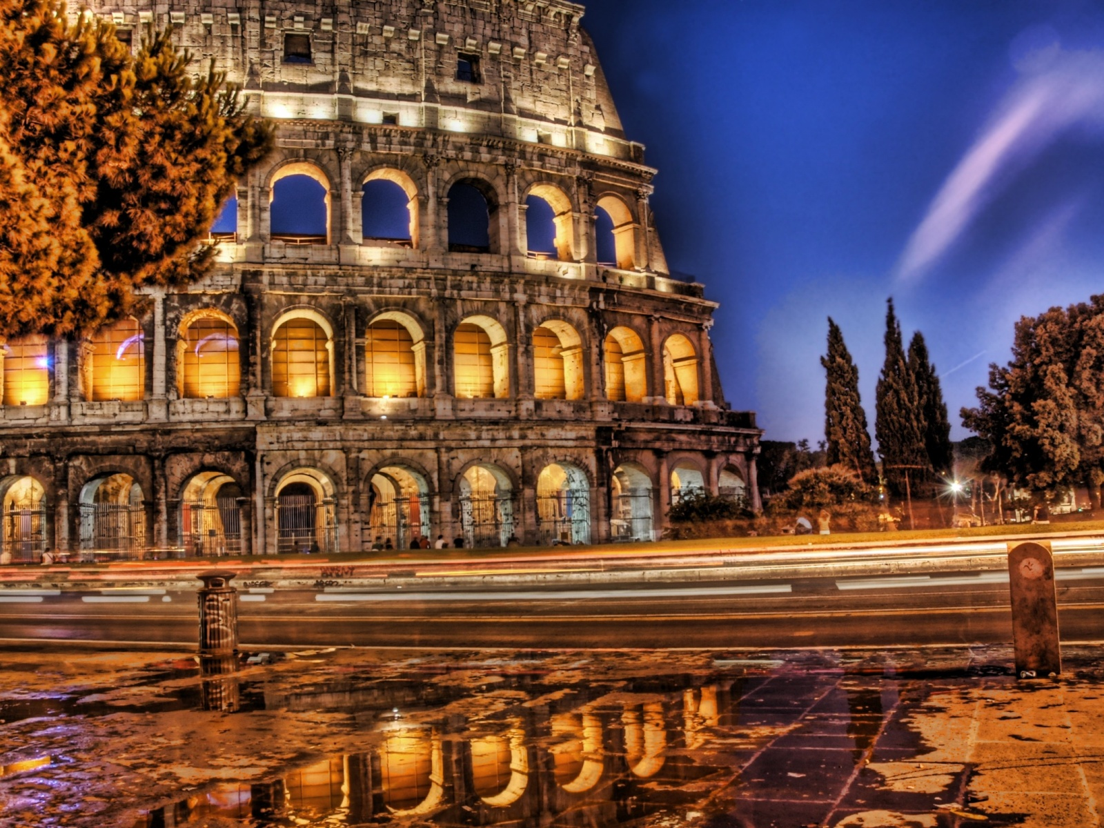 1500x500 Colosseum in HDR Twitter Header Photo HD Wide Wallpaper for Widescreen