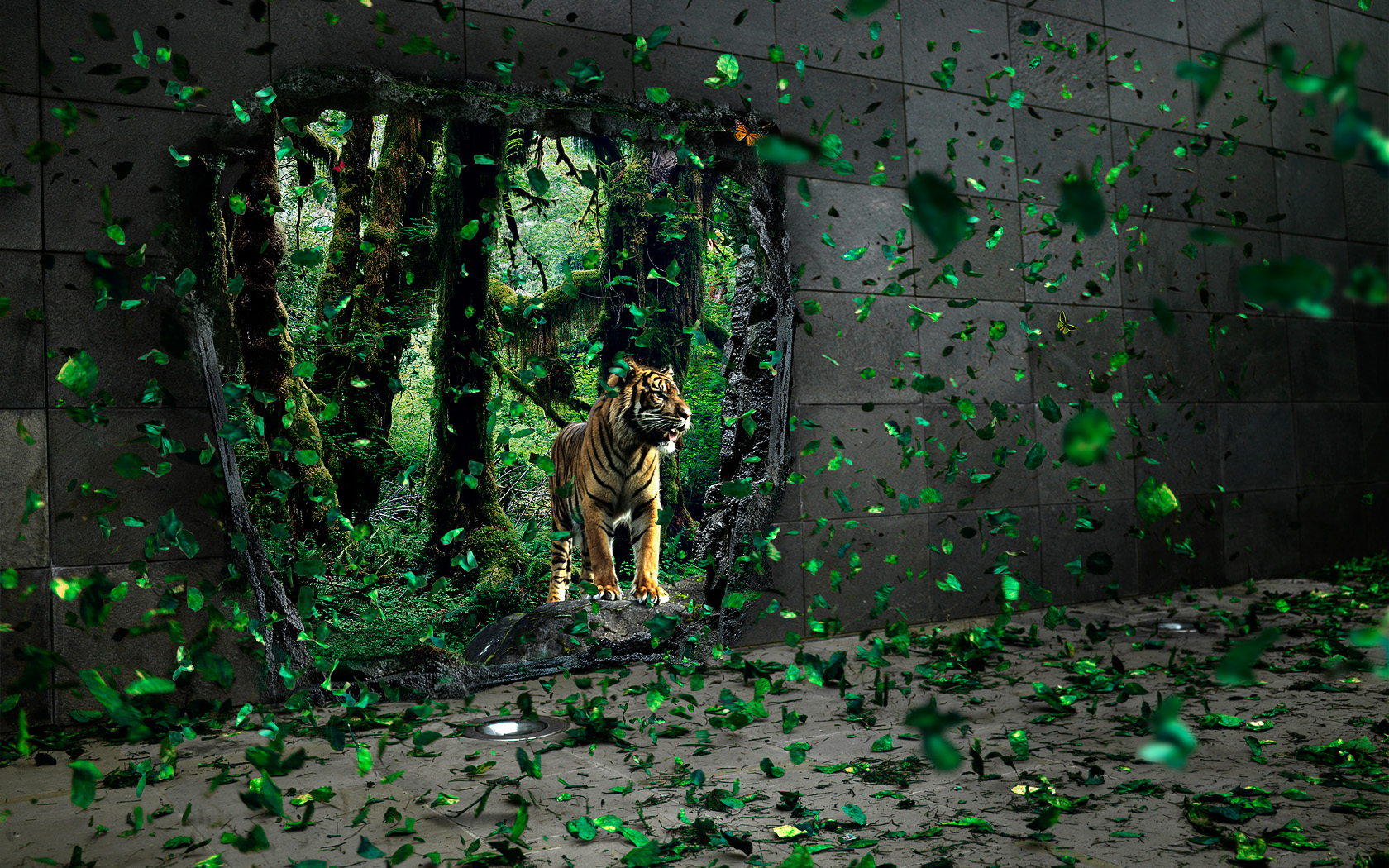 Jungle Wallpaper Desktop: Forest: Concrete Jungle