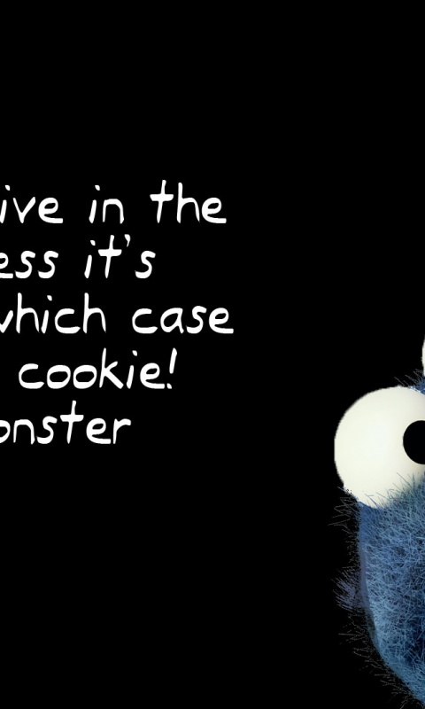 480x800 Cookie Monster Eight Galaxy S2 Wallpaper