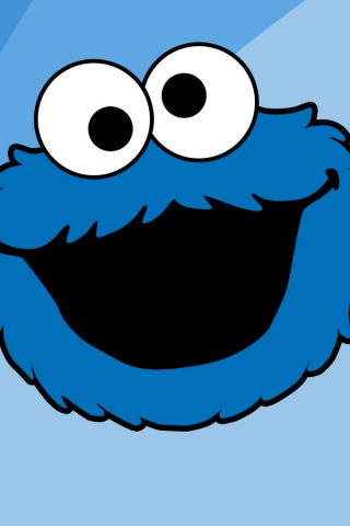 320x480 Cookie Monster One Iphone 3g Wallpaper