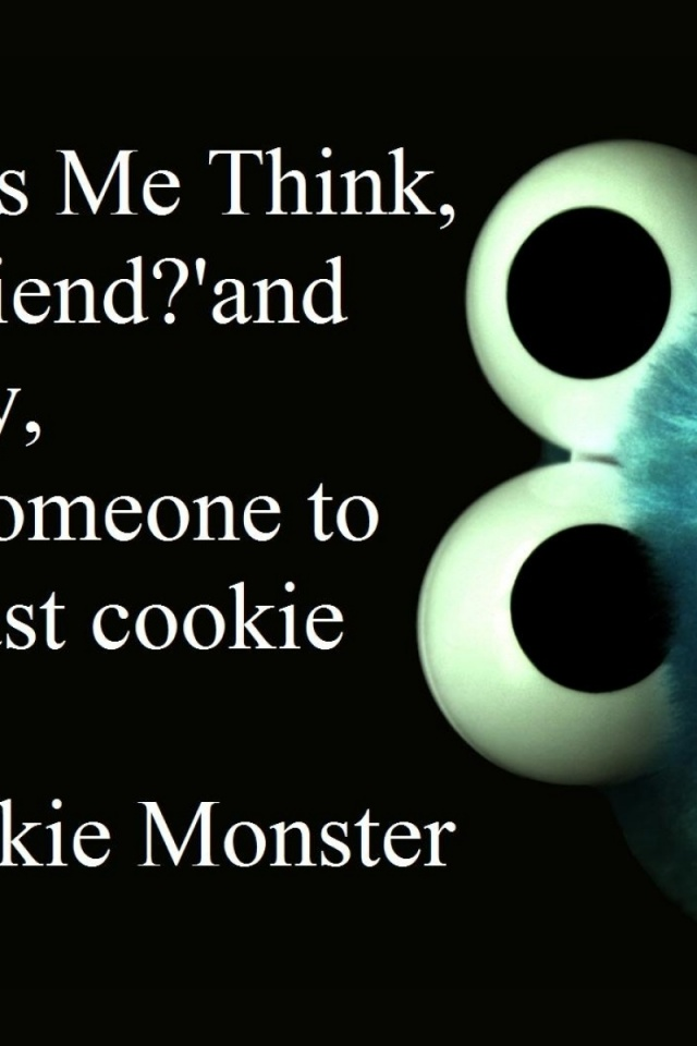 640x960 Cookie Monster Six Iphone 4 wallpaper