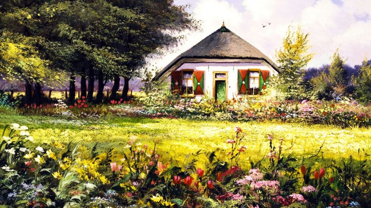 1280x720 country home pretty garden desktop pc and mac for Wallpaper home and garden