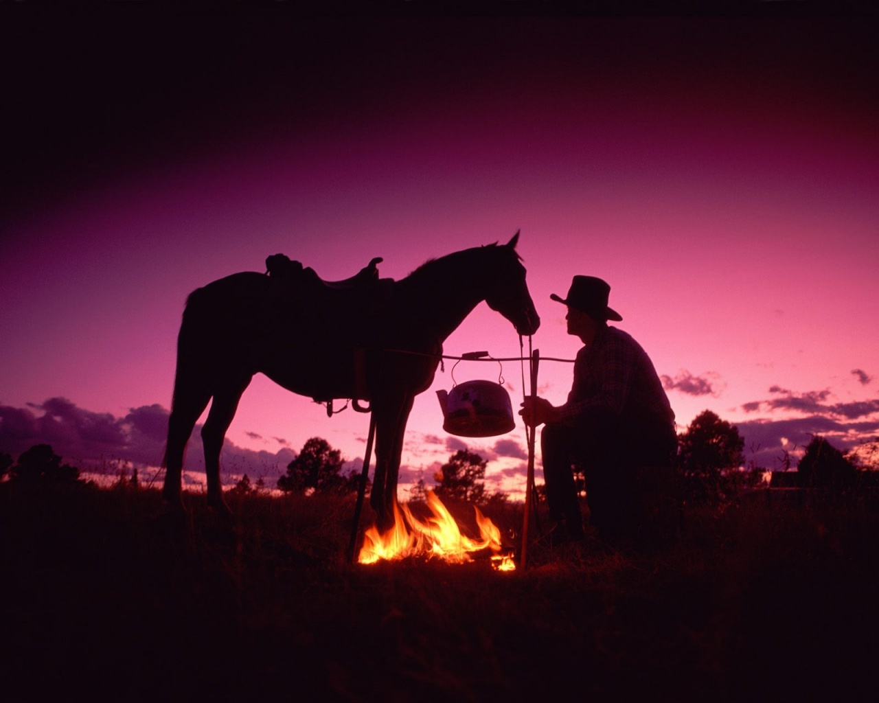 1280x1024 Cowboy and fire desktop wallpapers and stock photos
