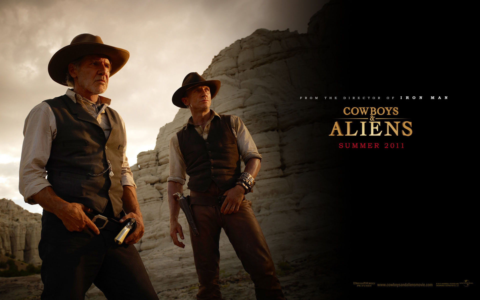 Hot Cowboy Wallpaper Wide Cowboys And Aliens Duo