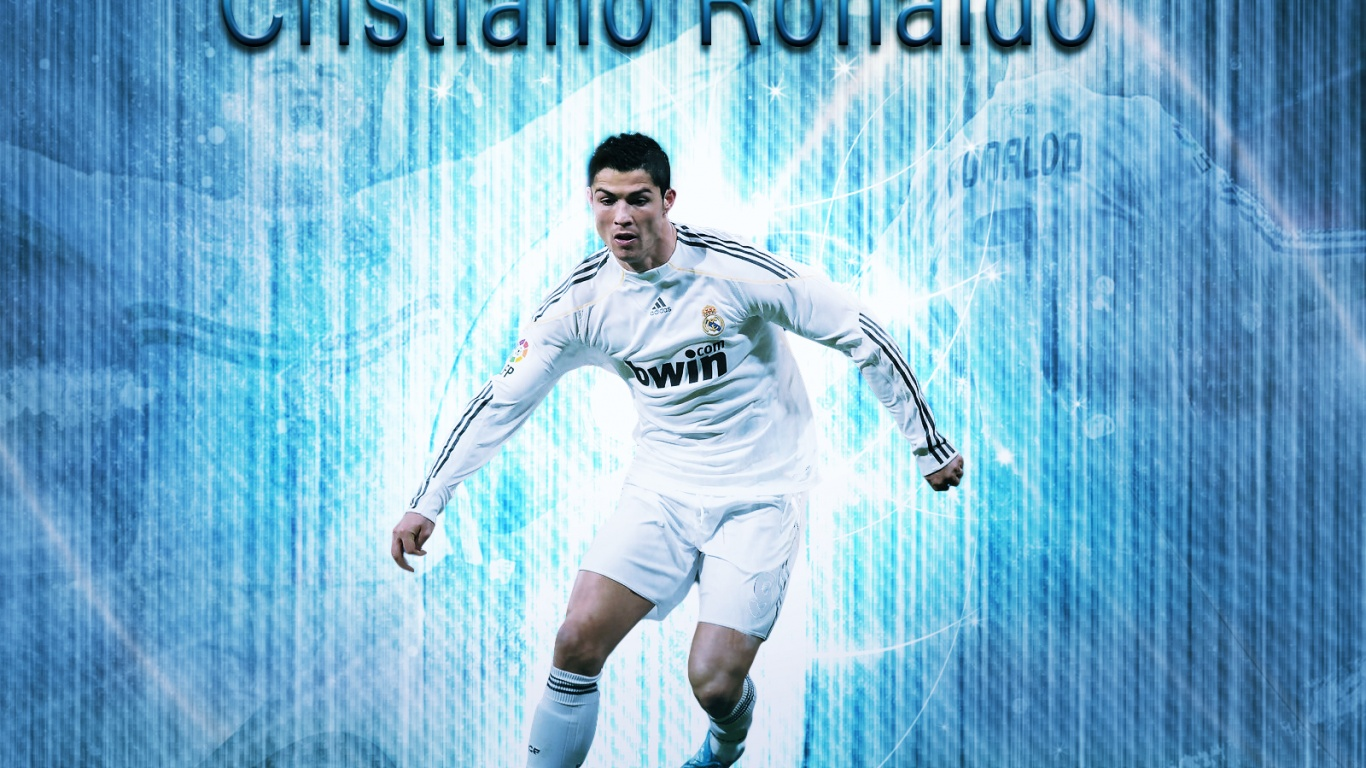 1366x768 Cristiano Ronaldo desktop PC and Mac wallpaper