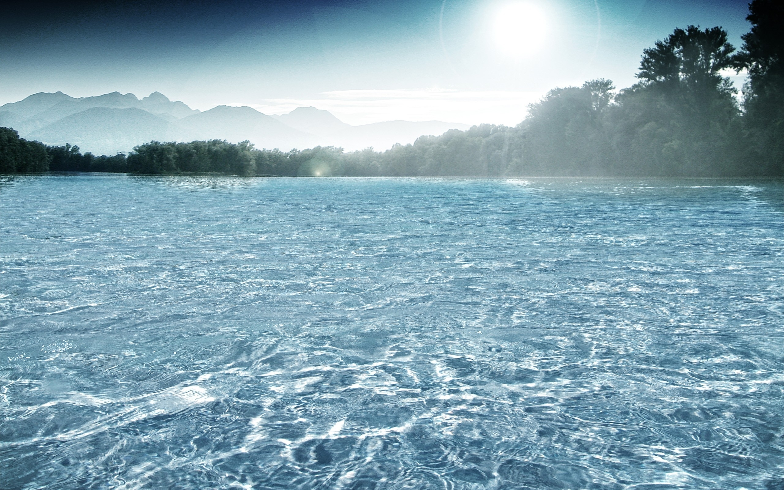 Clear Water Lake In Forest Wallpaper - bliblinews.com