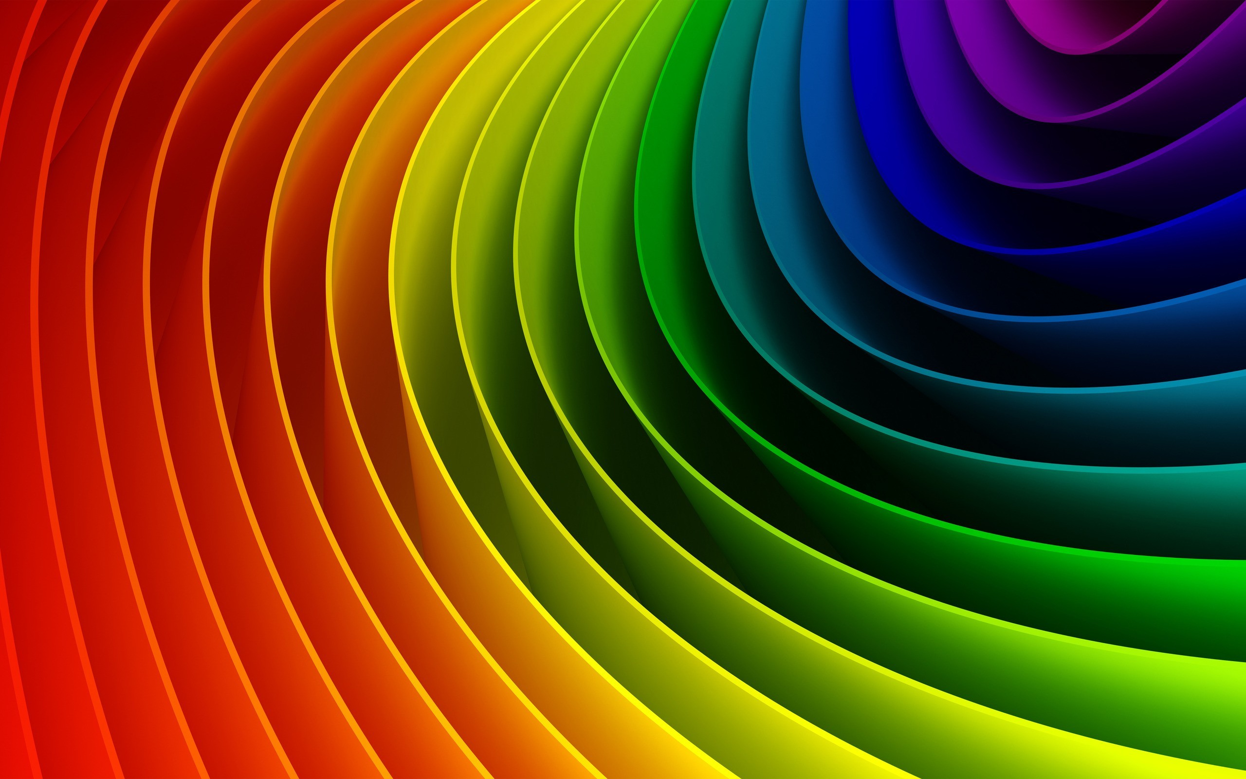 Curved colorful rainbow wallpapers | Curved colorful ...