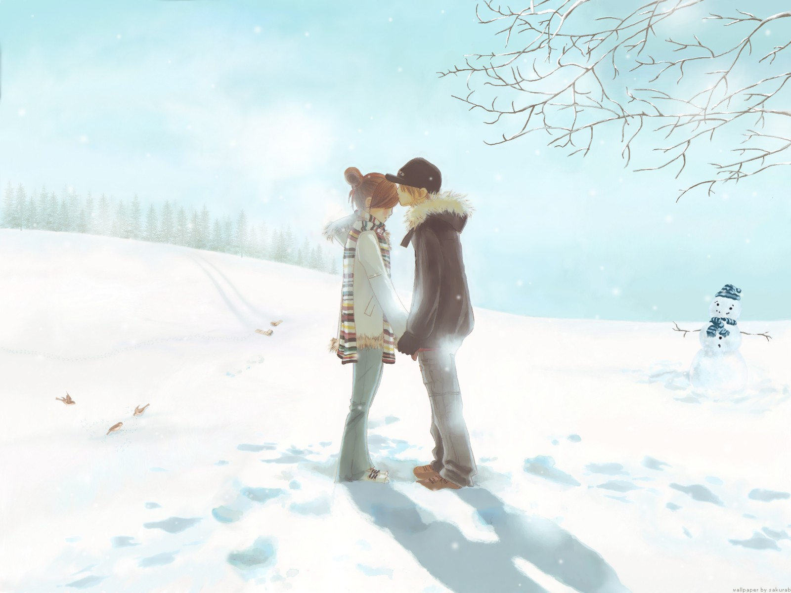 Love Wallpapers With cute couple : 1600x1200 cute couple kissing desktop Pc and Mac wallpaper