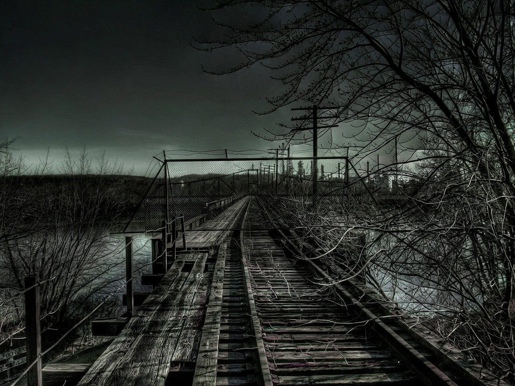 1024x768 dark bridge desktop pc and mac wallpaper