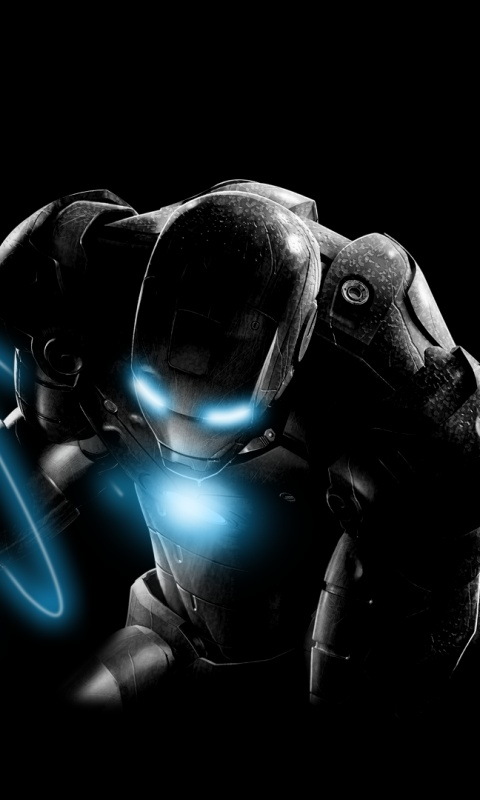 480x800 Dark Iron Man Galaxy S2 Wallpaper