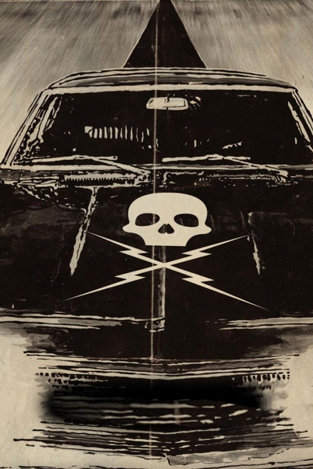 640x960 Death Proof Muscle Car Iphone 4 Wallpaper