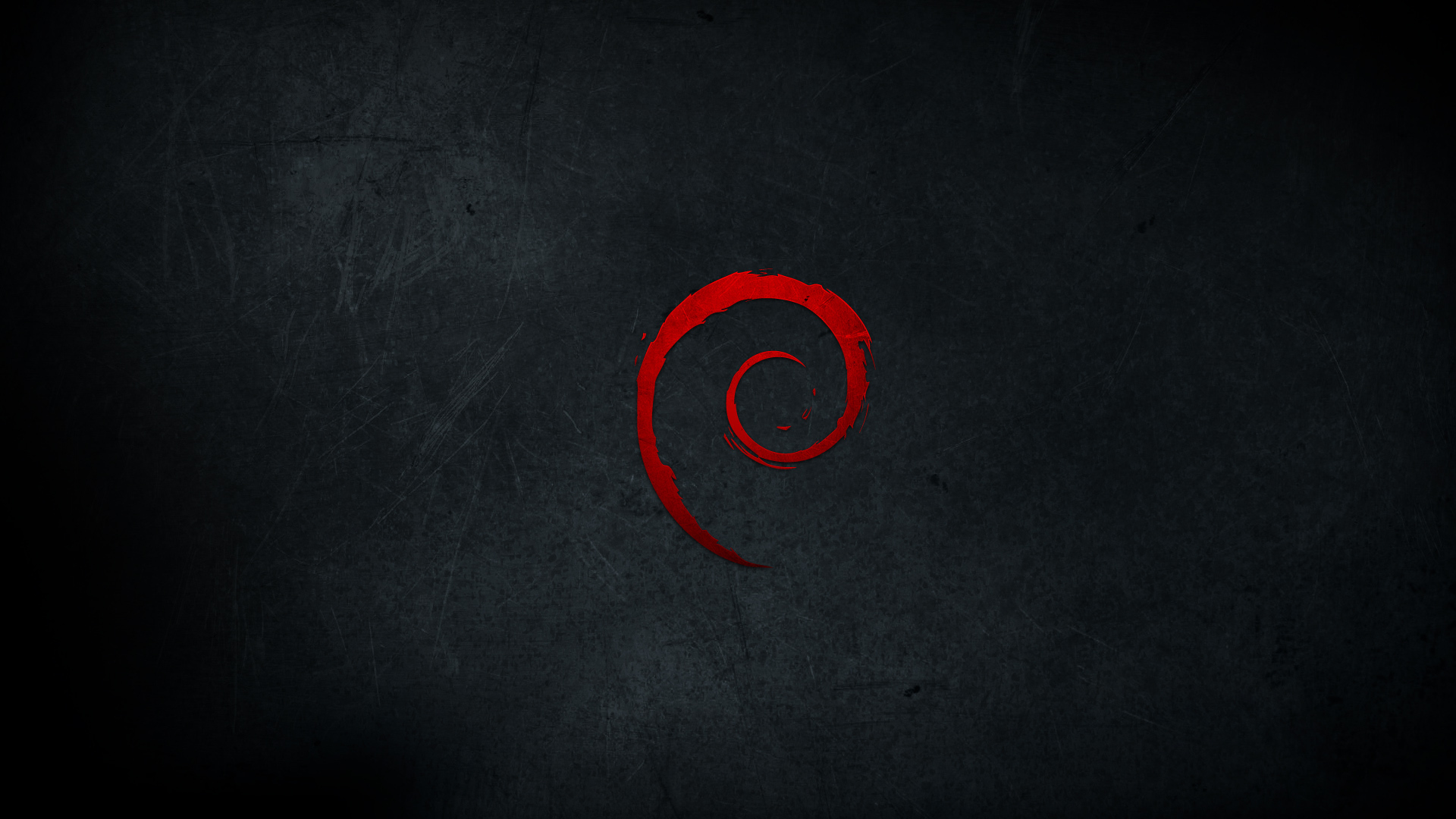 Red And Black Wallpaper >> 1920x1080 Debian Red Logo desktop PC and Mac wallpaper