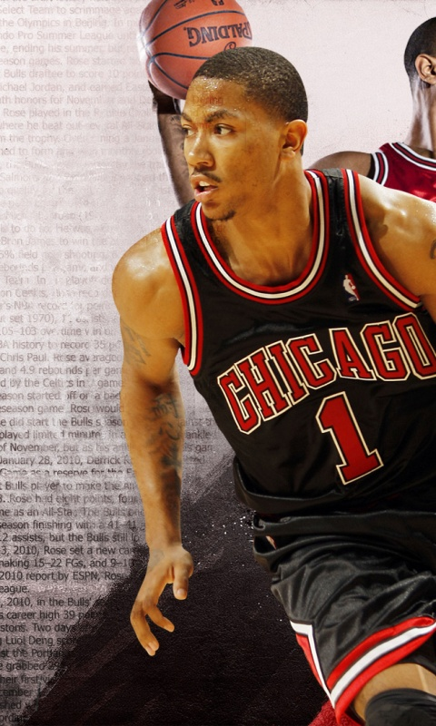 480x800 Derrick Rose, bulls, chicago