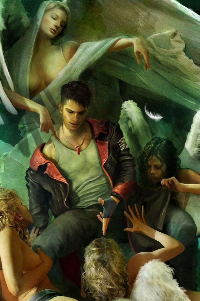 Devil may cry wallpapers for iphone wallpapersjpg 640x960 devil may cry 5 green iphone 4 wallpaper voltagebd Images