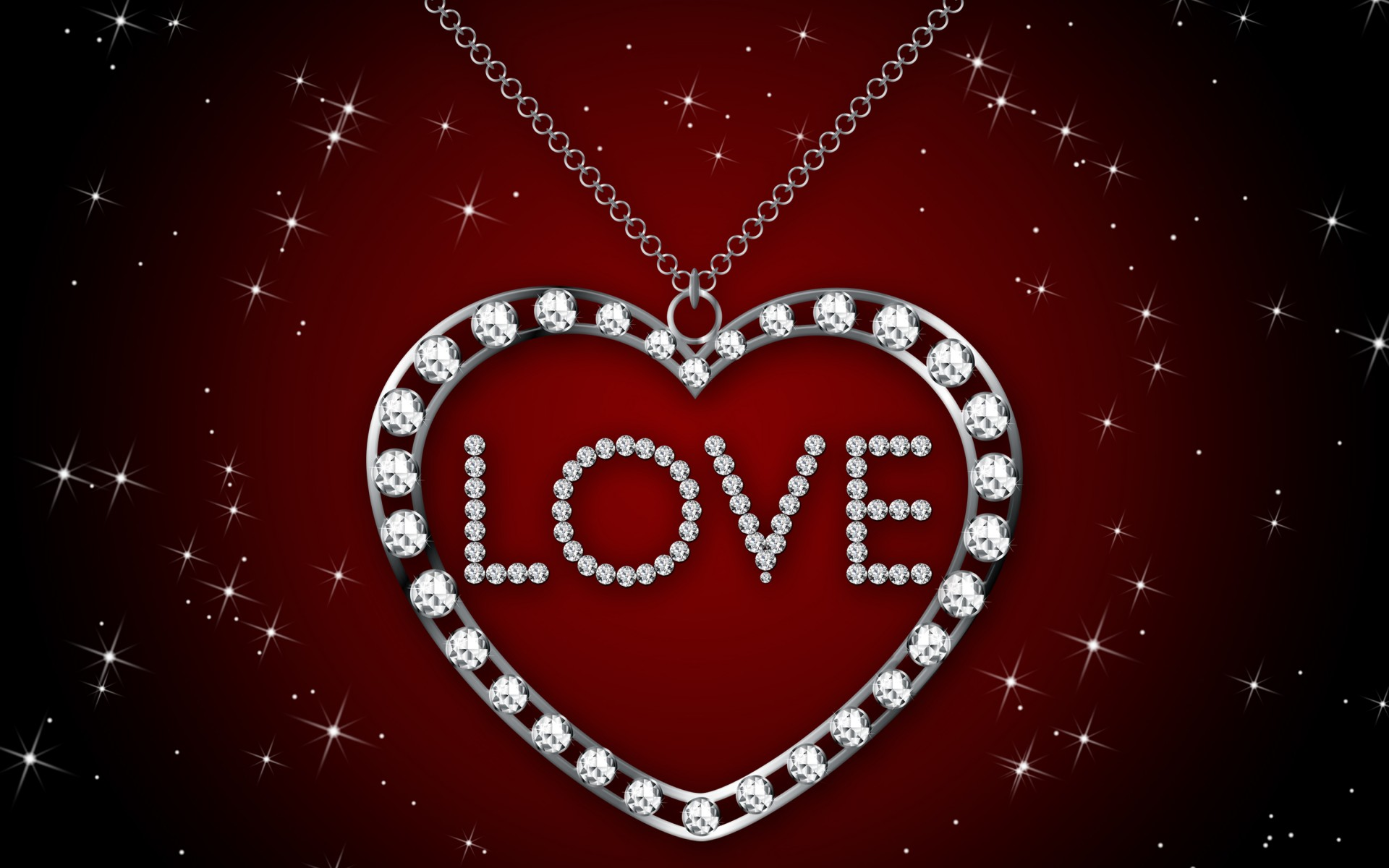 Diamond Heart Necklace Wallpapers