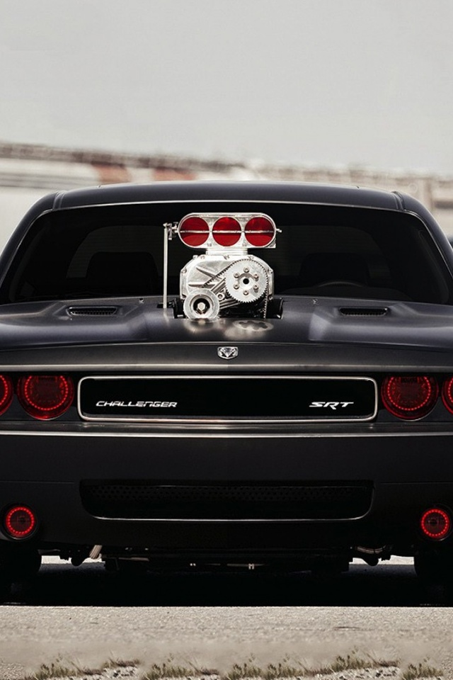 640x960 Dodge Challenger Srt Iphone 4 Wallpaper