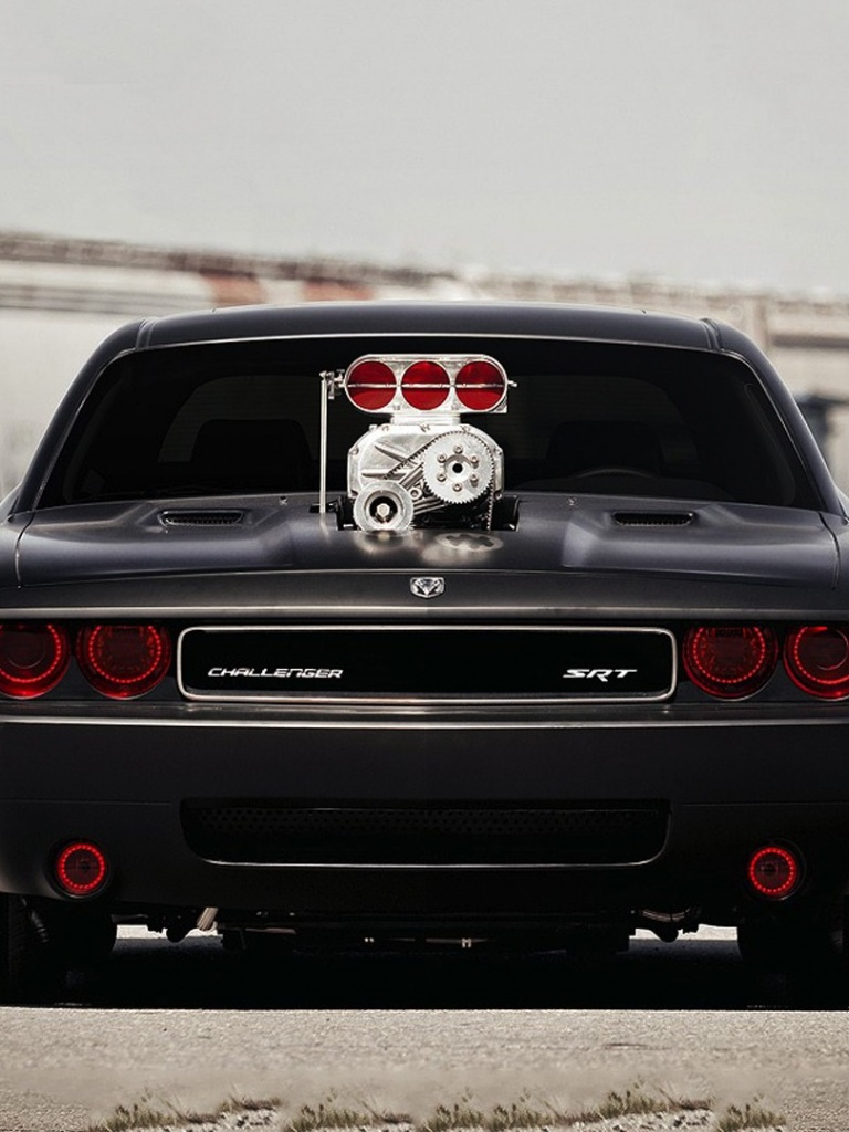 768x1024 dodge challenger srt ipad mini wallpaper