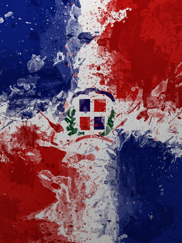 768x1024 dominican republic flag ipad wallpaper - Dominican republic wallpaper ...