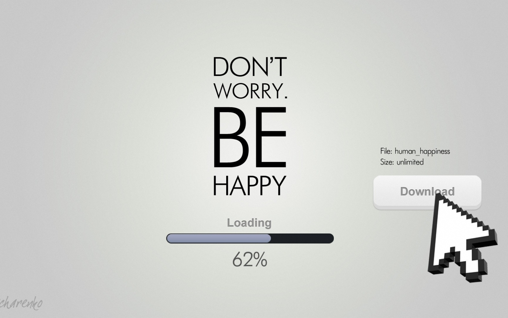 1680x1050 Don't worry be happy desktop PC and Mac wallpaper