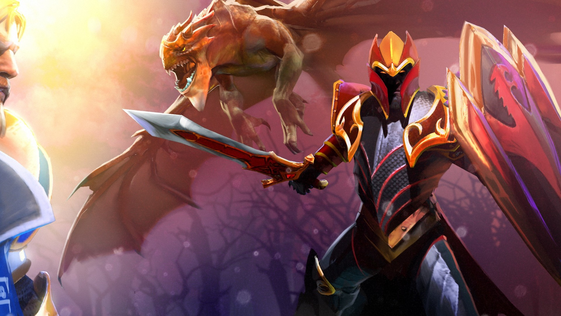 Dota 2 Knight Davion Desktop PC And Mac Wallpaper