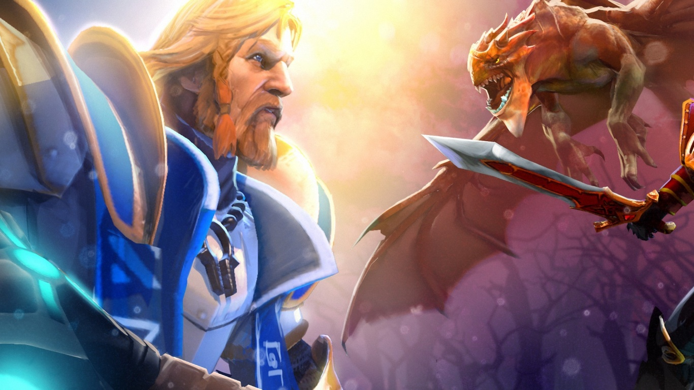 1366x768 Dota 2 Purist Thunderwrath Desktop Pc And Mac Wallpaper