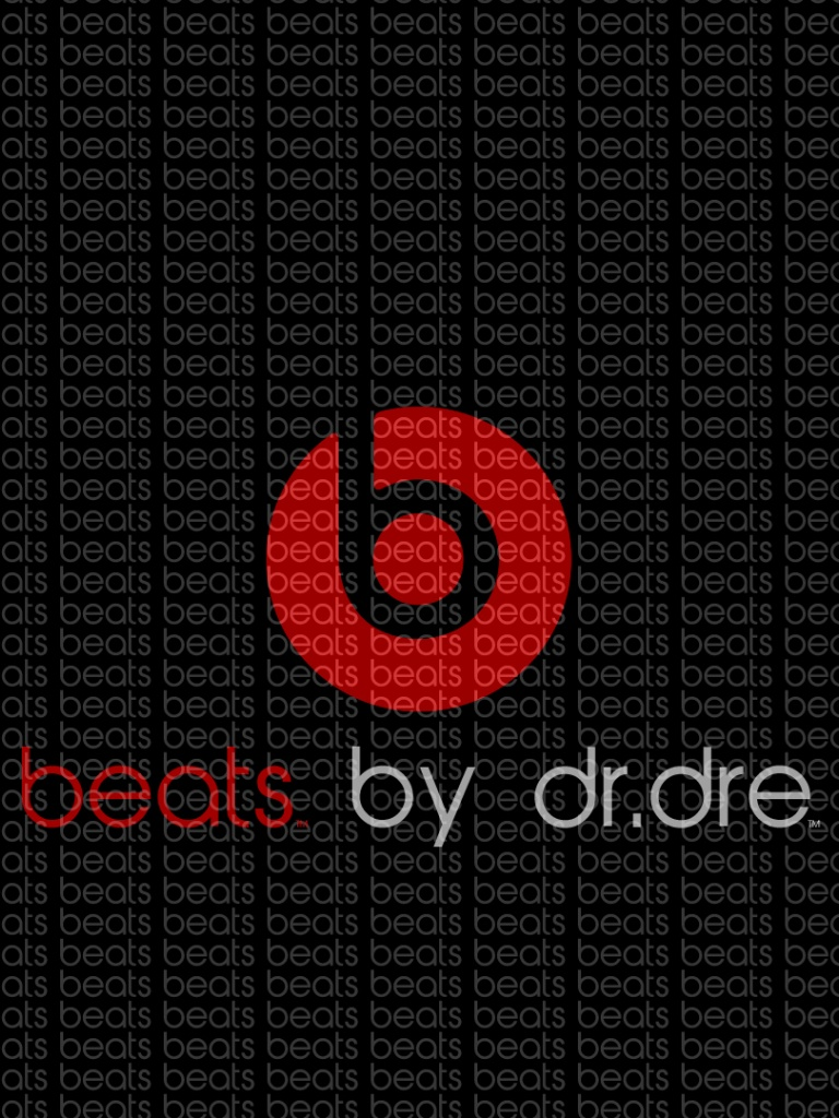768x1024 Dr Dre Beats audio, texture, sound, logo Ipad mini