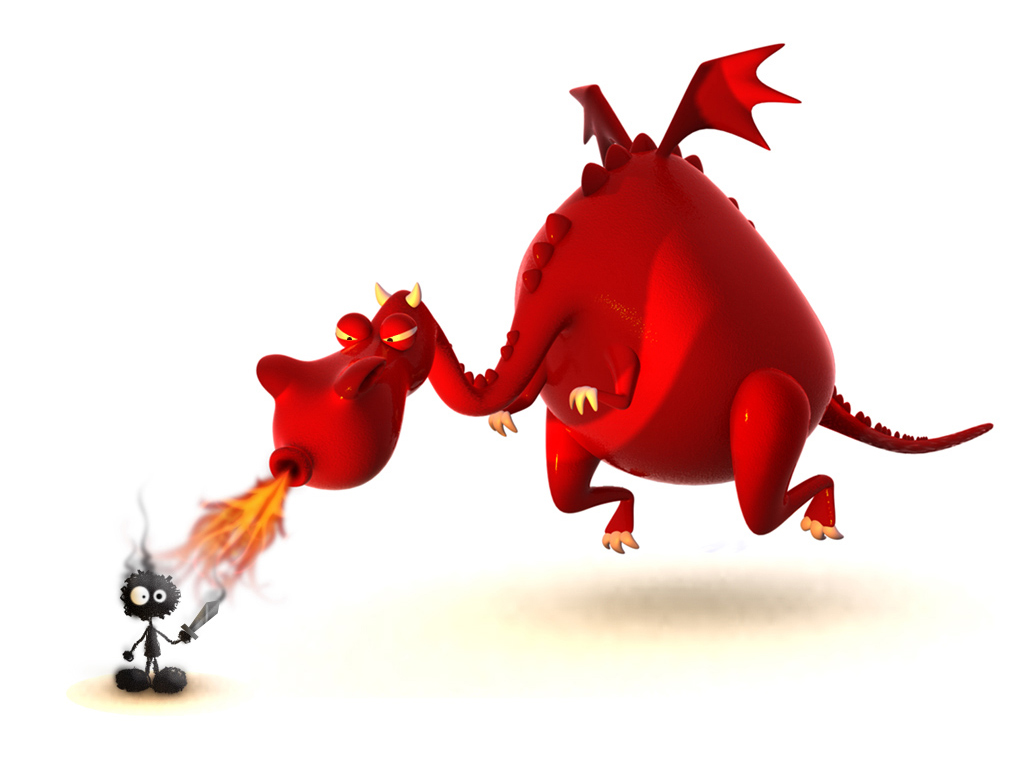 1024x768 Dragon Caricature Desktop PC And Mac Wallpaper