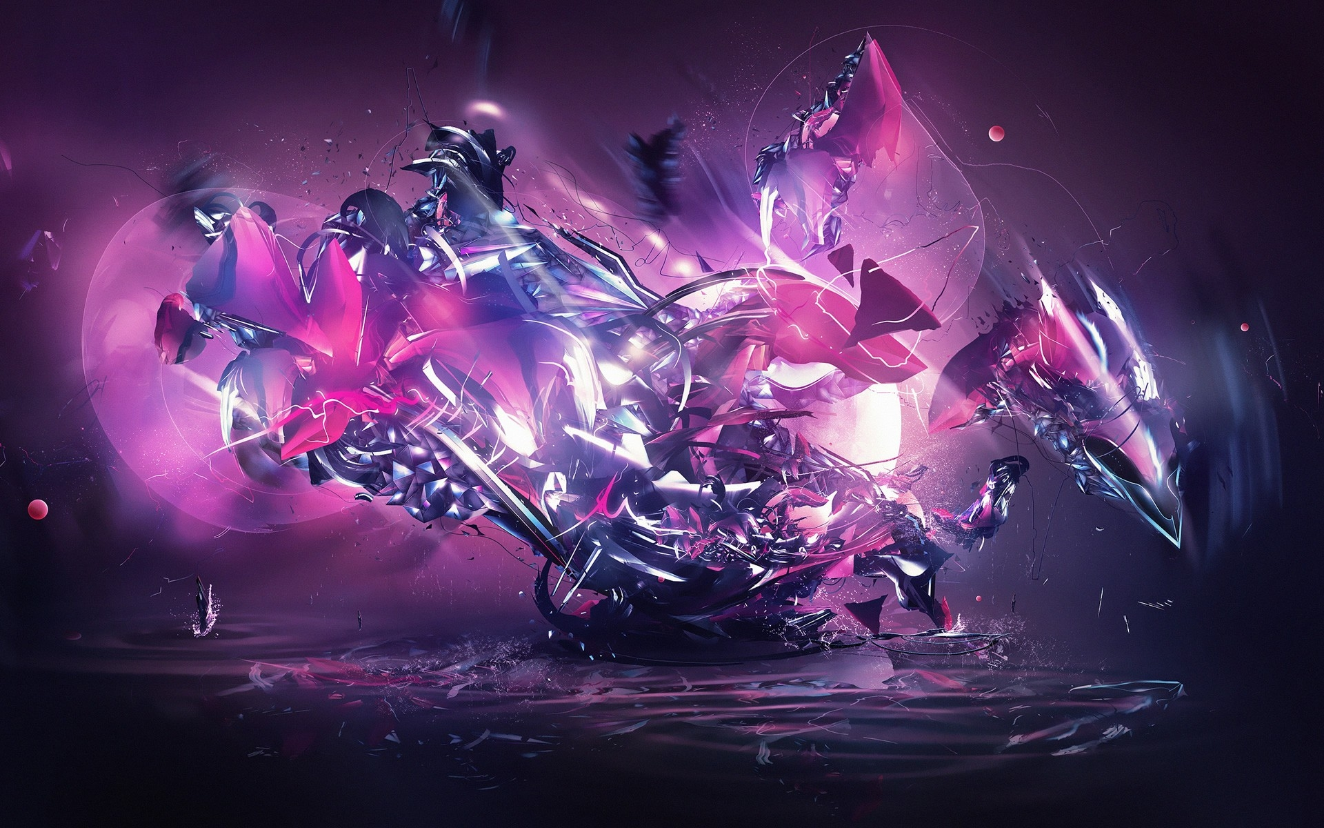 1920x1200 Dragon Explosion Pink Abstract Desktop PC And Mac Wallpaper
