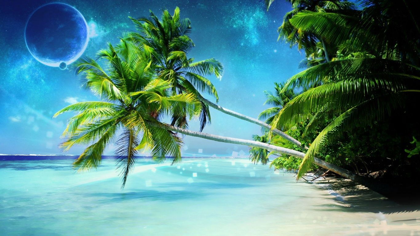 1366x768 Dream Beach Desktop Pc Mac Wallpaper