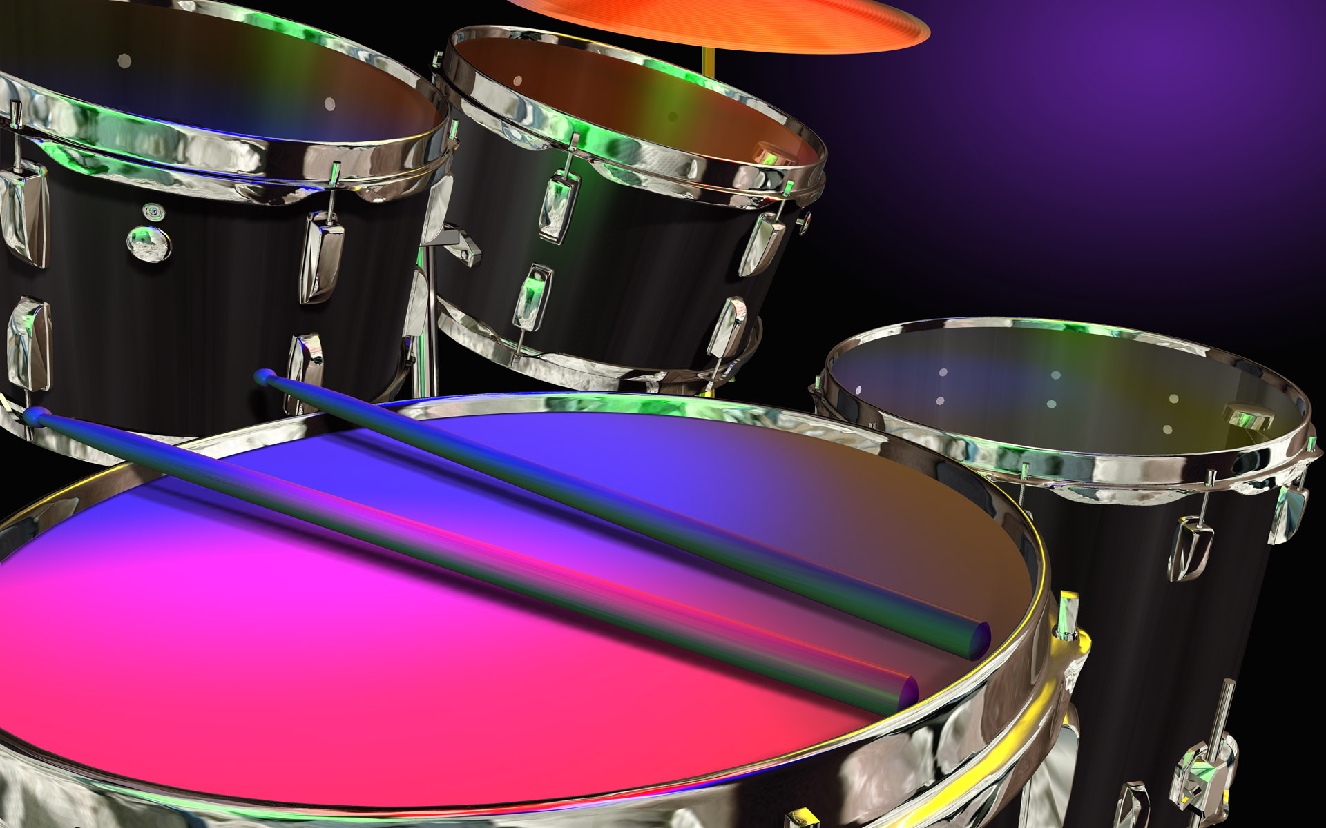 Drums Wallpapers: Drums In Color Stock Photos