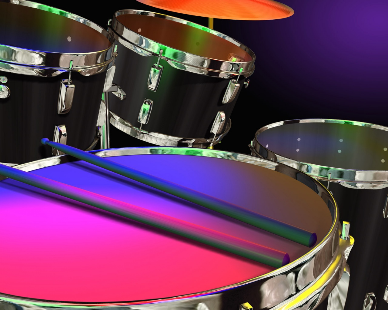 1280x1024 Drums In Color Desktop Pc And Mac Wallpaper