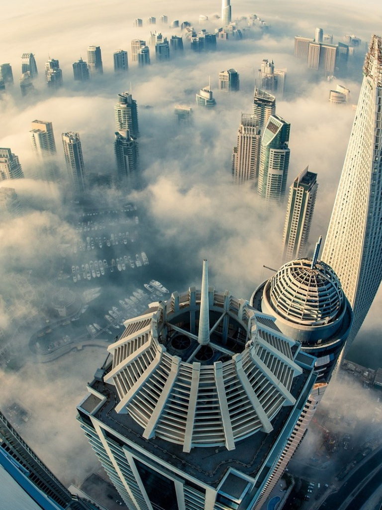 768x1024 dubai above the clouds ipad wallpaper for Home wallpaper uae