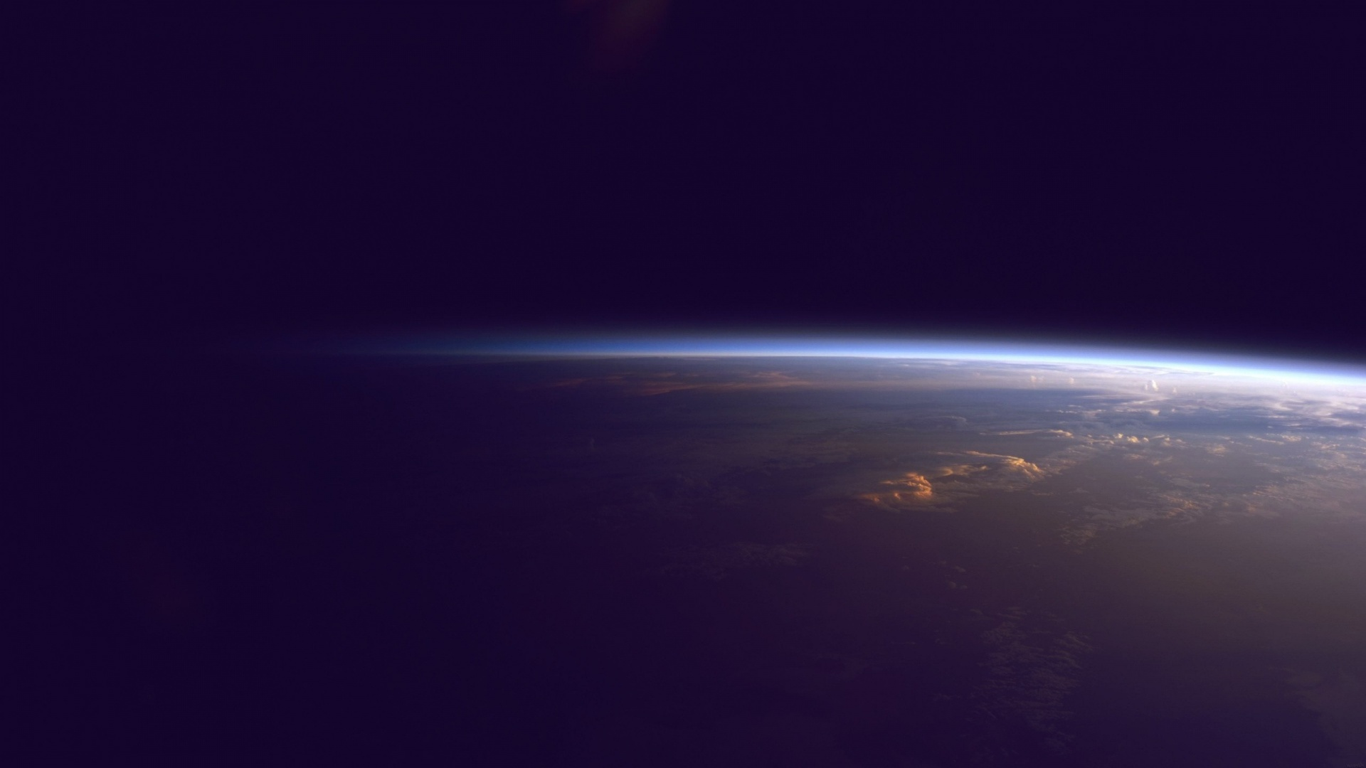 1920x1080 Earth Horizon From Outer Space Desktop Pc And Mac Wallpaper