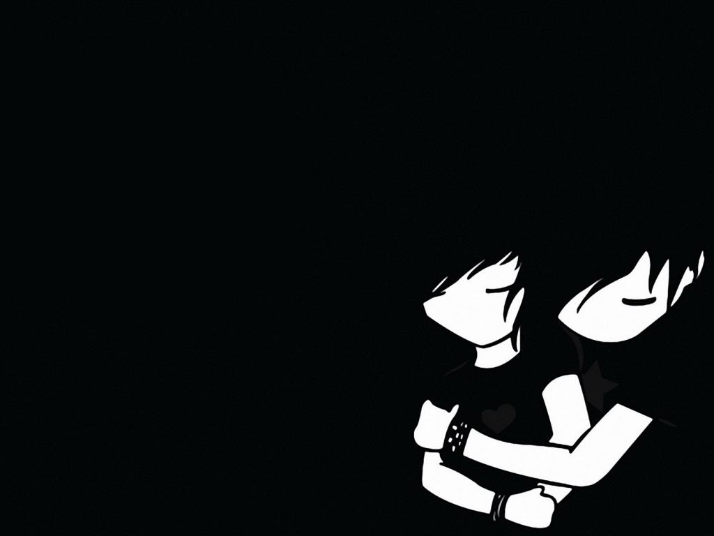 Emo Boy And Girl Desktop Mac Wallpaper