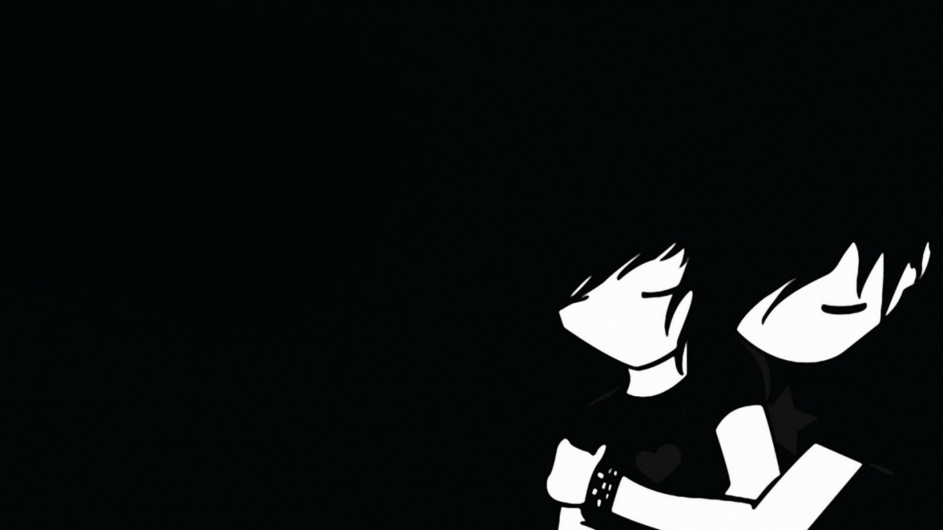 1366x768 Emo boy and girl desktop Pc and Mac wallpaper