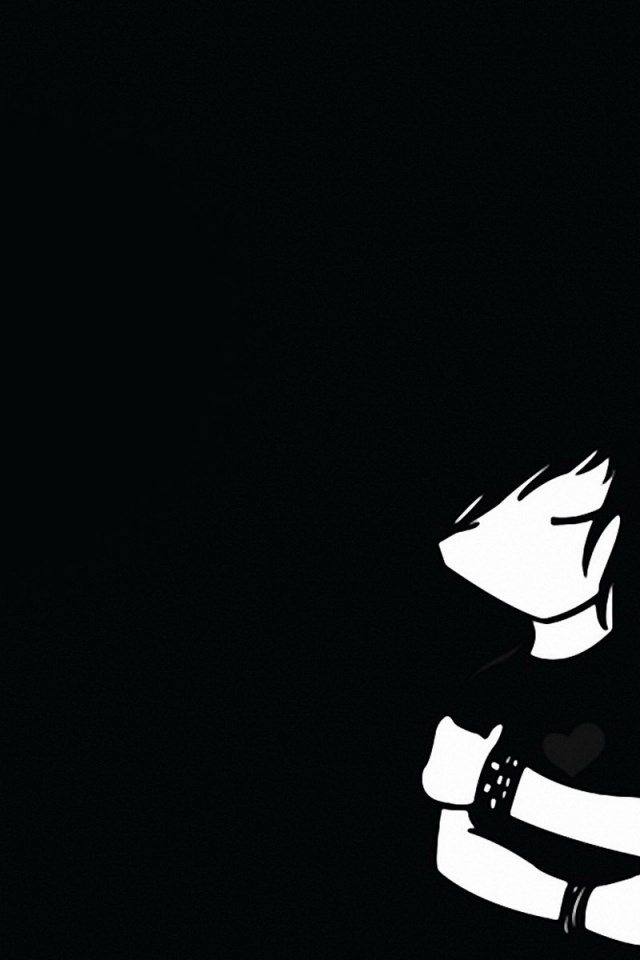 640x960 Emo Boy And Girl Iphone 4 Wallpaper