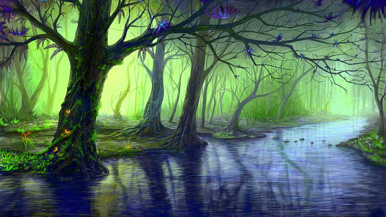 1280x720 Enchanted Forest Amp Blue Stream Desktop Pc And Mac