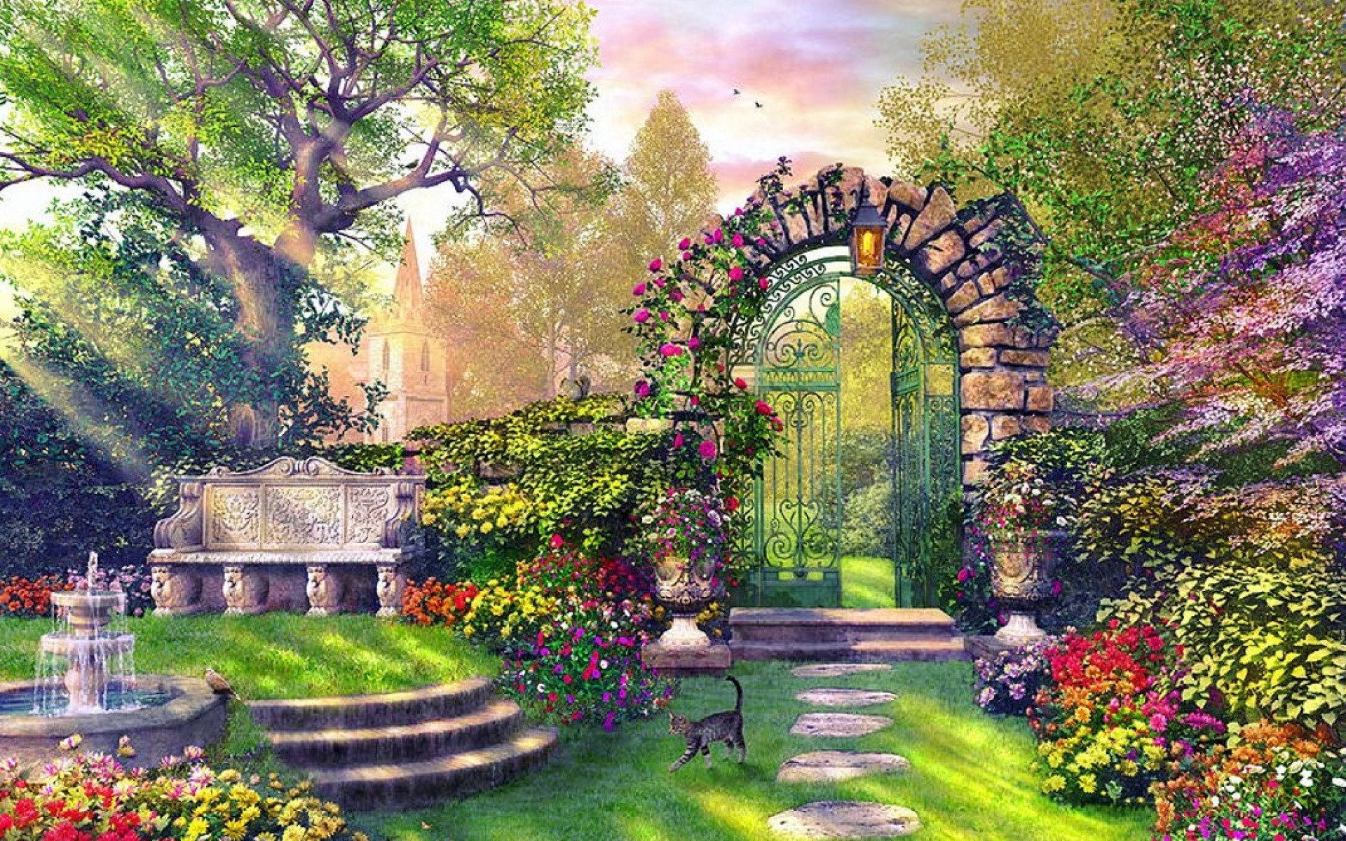 Enchanting garden wallpapers enchanting garden stock photos for Wallpaper home and garden