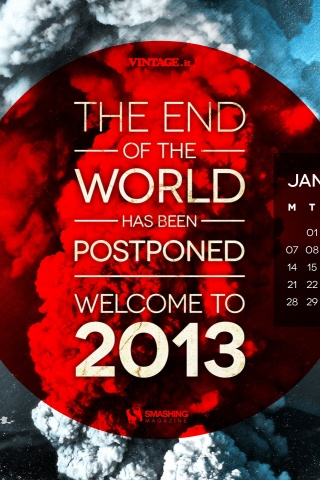 320x480 End Of The World Postponed