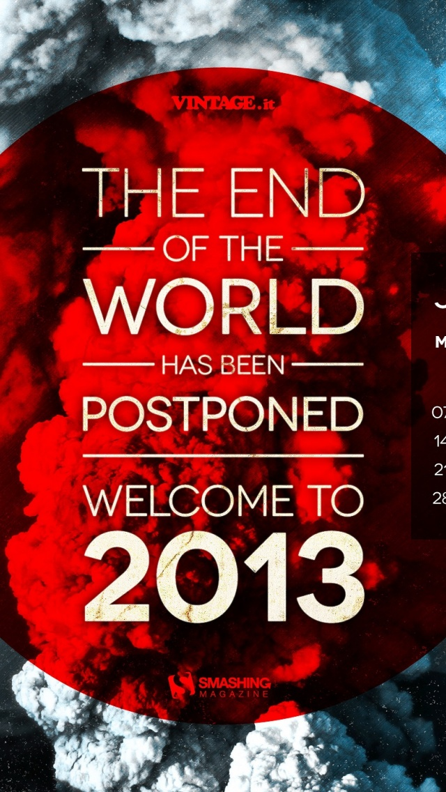 640x1136 End Of The World Postponed