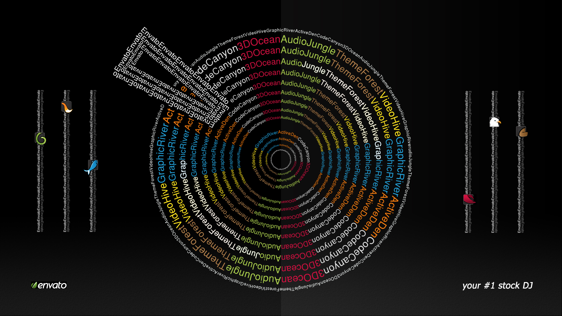 1920x1080 Envato text wheel