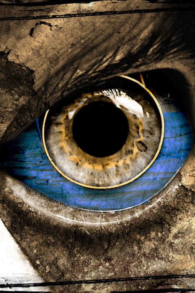 640x960 eye horror iphone 4 wallpaper - Scary wallpaper iphone ...