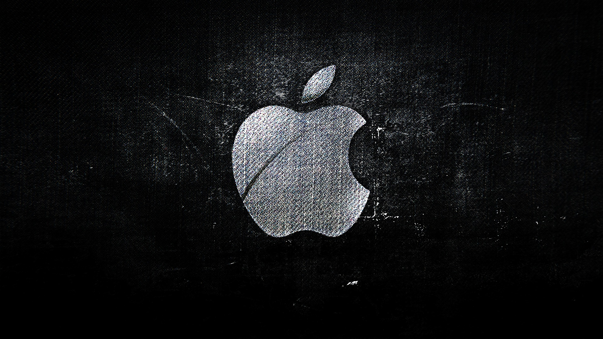 1920x1080 fabric texture apple logo desktop pc and mac for Immagini apple hd