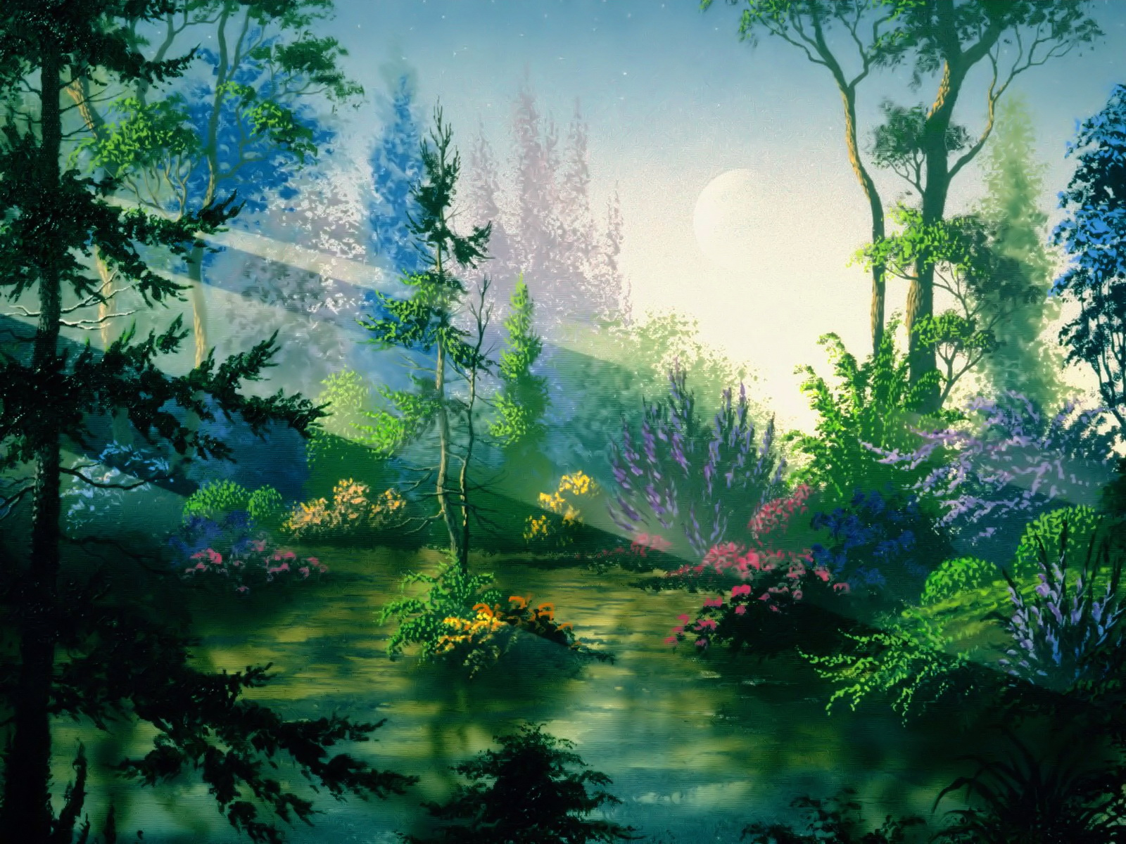 1600x1200 Fantasy forest desktop PC and Mac wallpaper
