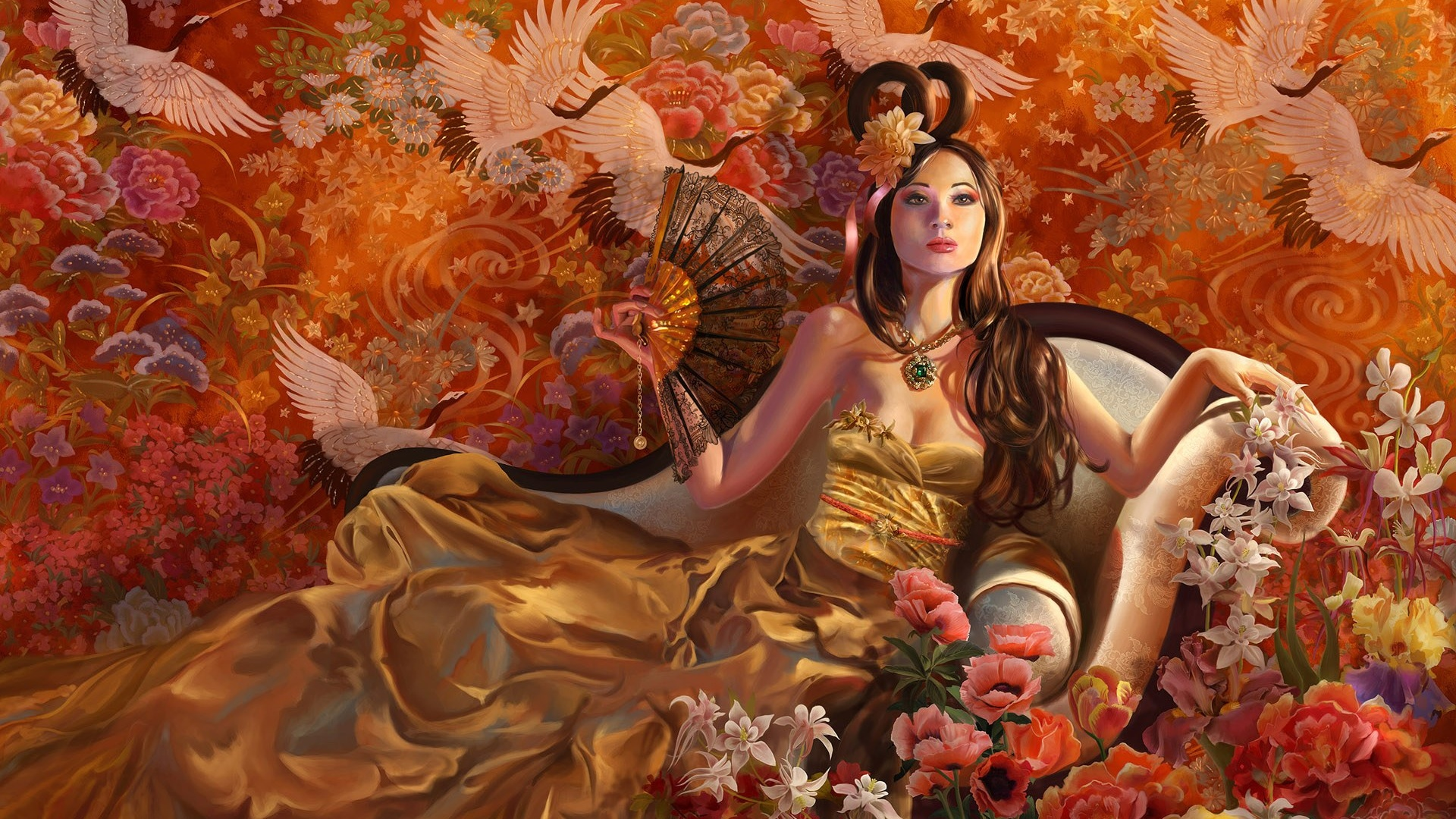 1920x1080 fantasy girl autumn desktop pc and mac wallpaper voltagebd Gallery