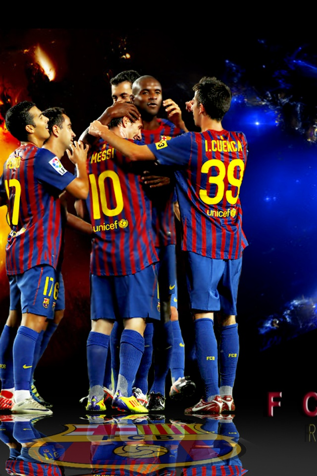 640x960 FC Barcelona Iphone 4 Wallpaper