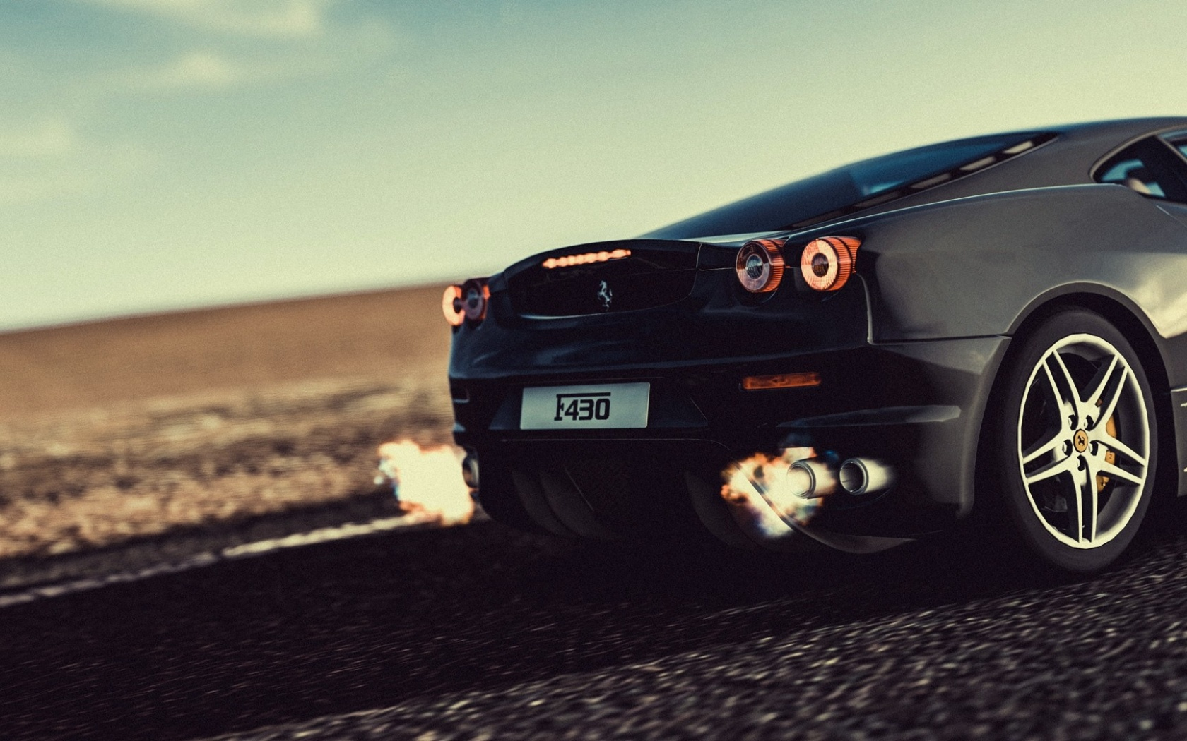 1680x1050 Ferrari F430 Nos Desktop Pc And Mac Wallpaper